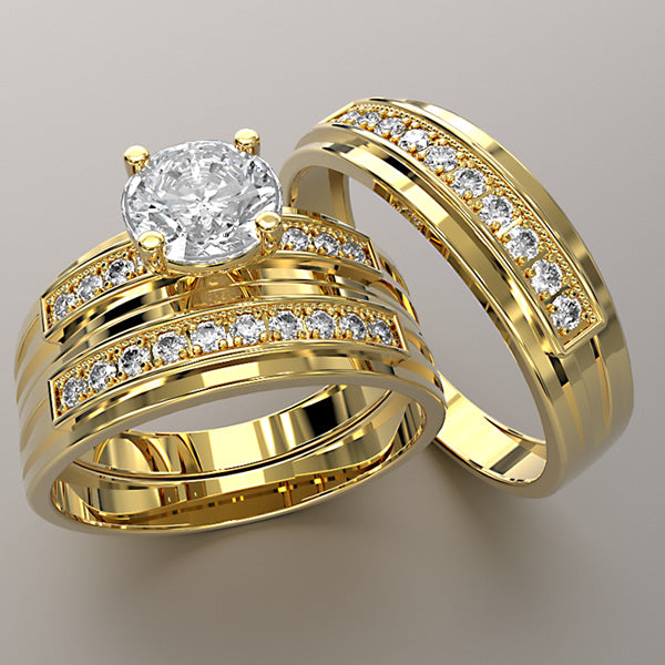 Zara Collection - Complete Gold Wedding Set - 01BS16