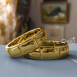 Gold His & Hers Wedding Bands - 01BU10