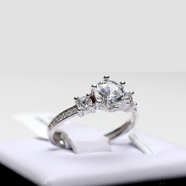 10k Gold Engagement Ring - 01CG02