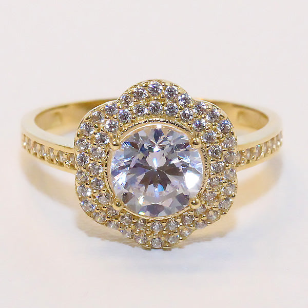 Gold Engagement Ring - 01CG13