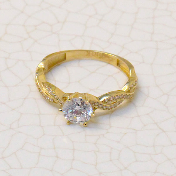 GOLD ENGAGEMENT RING - 01CG17
