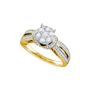 14k Gold with 0.75ct Diamond Engagement Ring - 01DS02