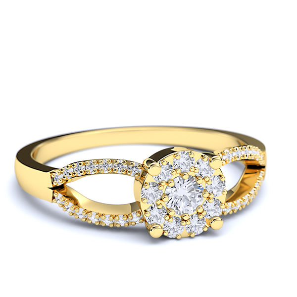 Gold Engagement Ring - 01DS03