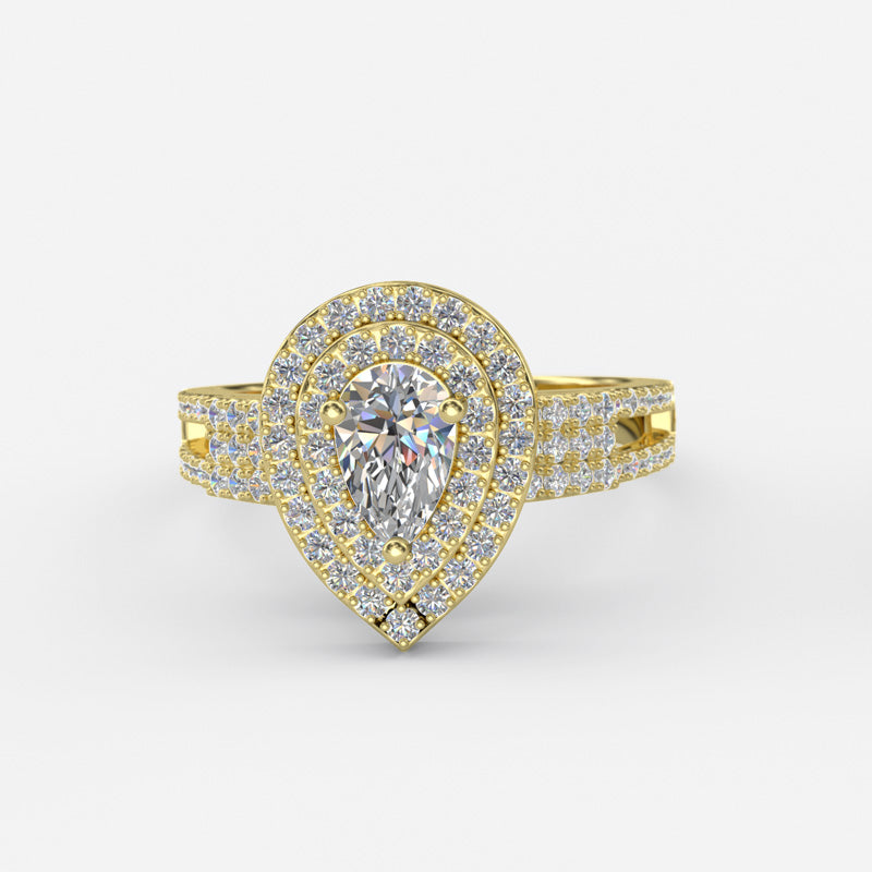Pear Shaped Diamond Engagement Ring - 01GG42