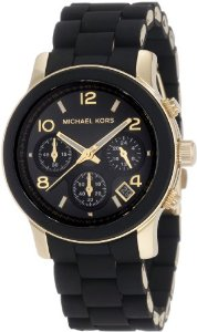 Michael Kors Quartz, Black Dial with Black Goldtone Bracelet - 01MK04