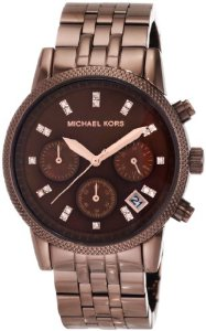 Michael Kors Women's MK5547 Showstopper Chocolate Chronograph Watch - 01MK05