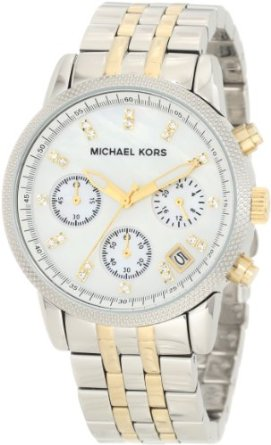 Michael Kors Watches Two-Tone Chronograph with Stones - 01MK06
