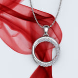 Diamond Circle Pendant Necklace - 01NN10