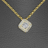 Princess Cut Diamond Pendant with Gold Chain - 01NN71