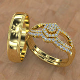 Gold Trio Wedding Set - 01SD04