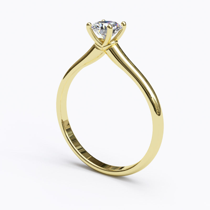 Solitaire Gold Engagement Ring with 0.4ct Brilliant Cut Diamond - 01SG02