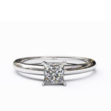 Solitaire Gold Engagement with 0.35ct Princess Cut Diamond - 01SG03