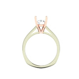0.69ct Brilliant Cut Solitaire Two Tone Gold Engagement Ring - 01TG01