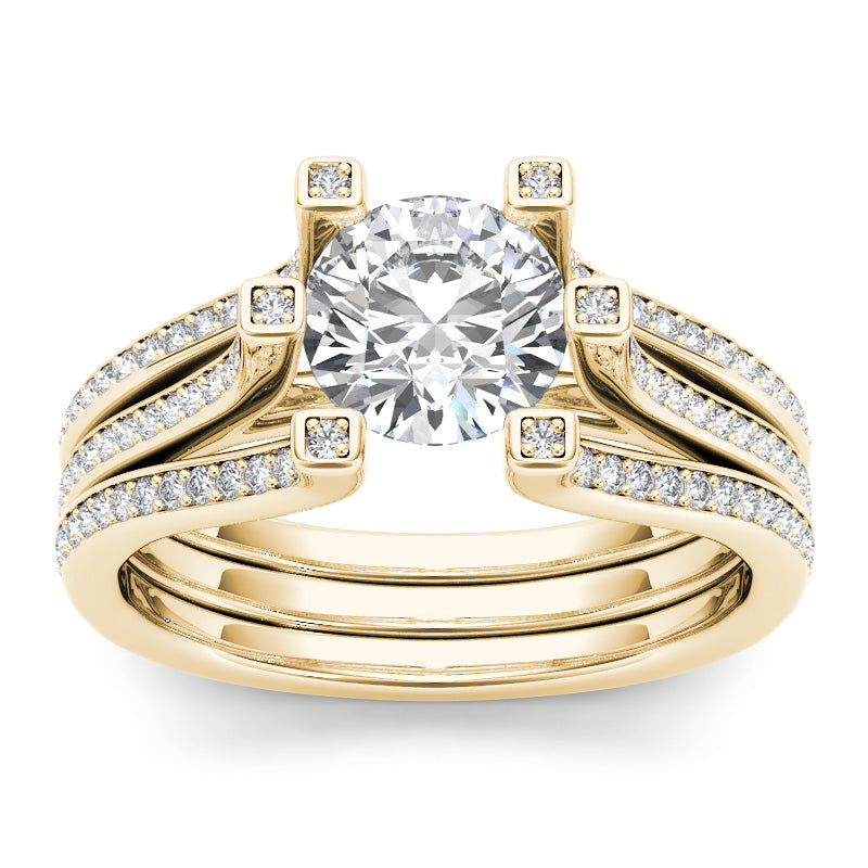 1.72ct Brilliant Diamond Gold Engagement Ring  - 01US01