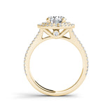 1.73ct Brilliant Diamond Double Halo Gold Engagement Ring  - 01US05