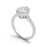 1.45ct Oval Cut Diamond Gold Engagement Ring  - 01US10