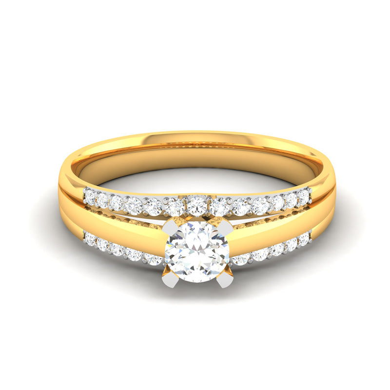 0.53ct Brilliant Cut Diamond Gold Engagement Ring - 01US20