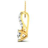 0.42ct Brilliant Diamond Gold Necklace and Pendant- 01US23