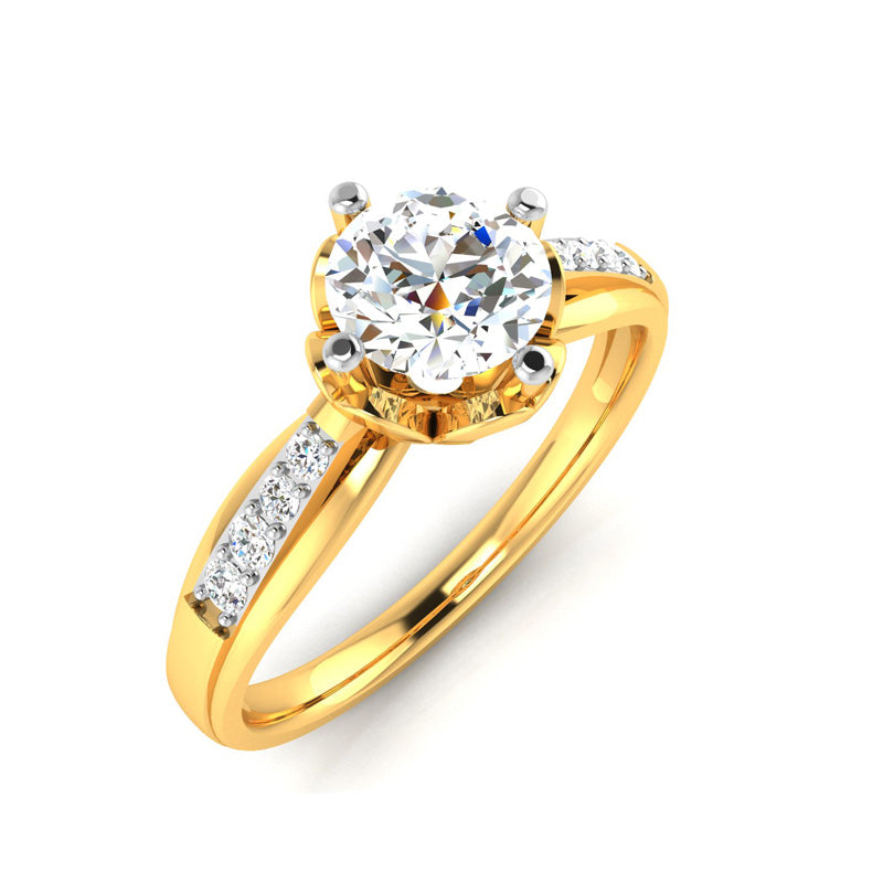 0.67ct Brilliant Diamond Gold Engagement Ring - 01US32