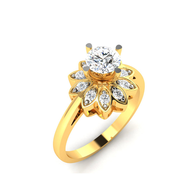 0.52ct Brilliant Diamond Gold Engagement Ring - 01US33