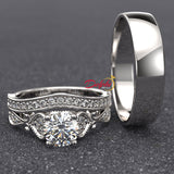 1.15ct Diamond Gold Complete Wedding Set - 01US53B