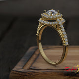 0.97ct Brilliant Diamond Gold Engagement Ring - 01US90