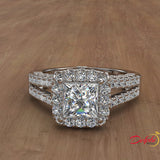 1.35ct Princess Cut Diamond Gold Engagement Ring - 01US94
