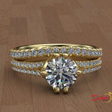 1.45ct Brilliant Cut Diamond  Gold Bridal Set  - 01US98