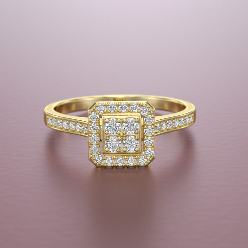 0.3ct Diamond Engagement Ring - 01VR19