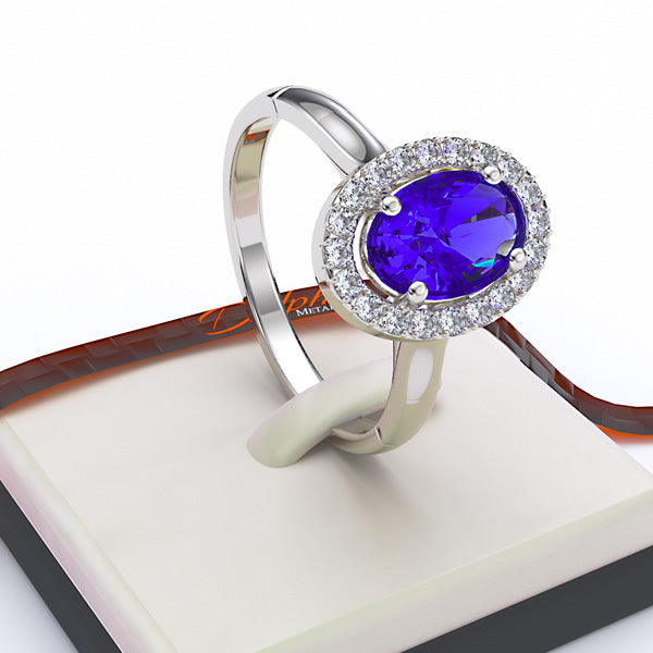 Sapphire Engagement Ring - 02SH25