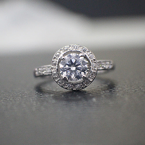 Sterling Silver Engagement Ring - 02AS03