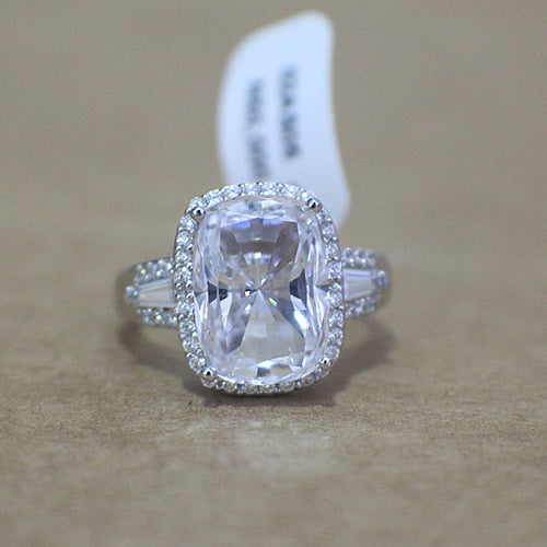Sterling Silver Engagement Ring - 02AS05