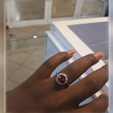 Sterling Silver Ruby Engagement Ring - 02AS21