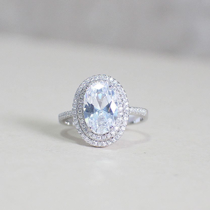 Sterling Silver Engagement Ring - 02AS46