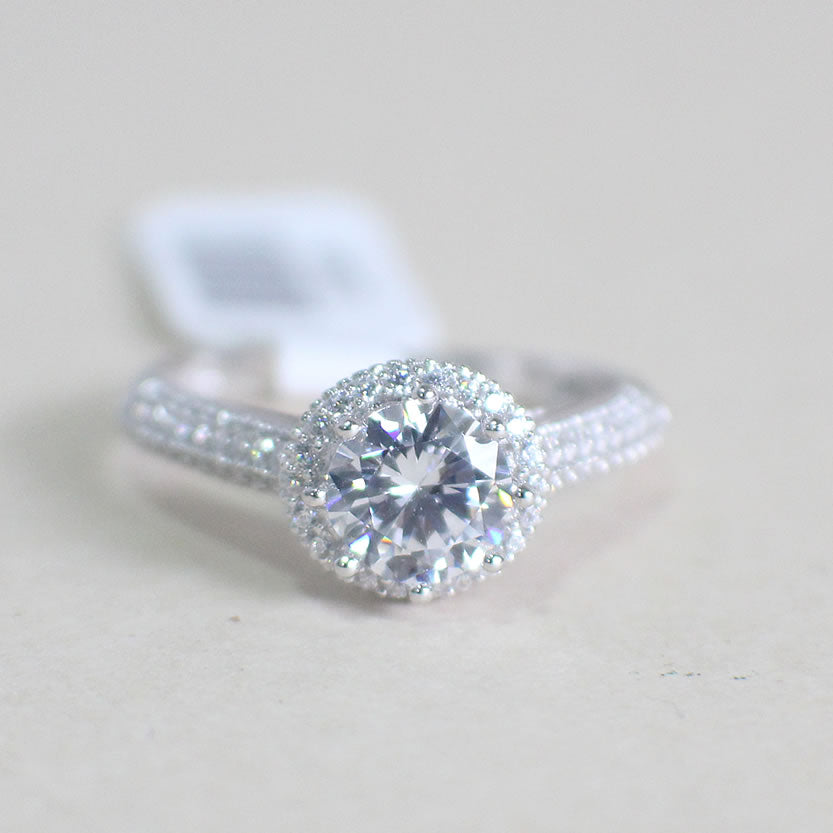 Sterling Silver Engagement Ring - 02AS68