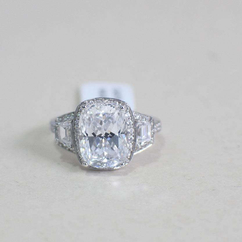 Sterling Silver Engagement Ring - 02AS78