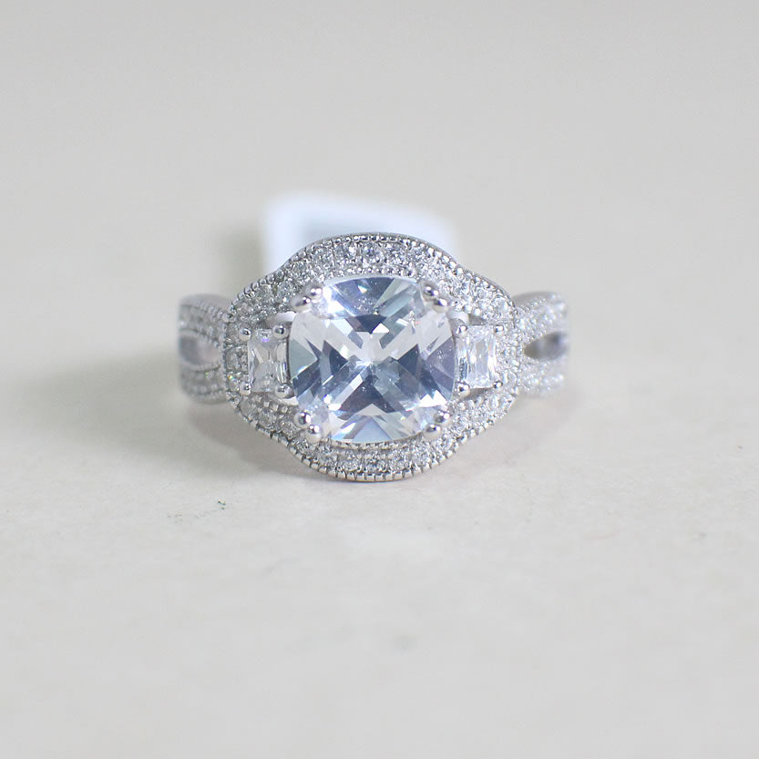 Sterling Silver Engagement Ring - 02AS82