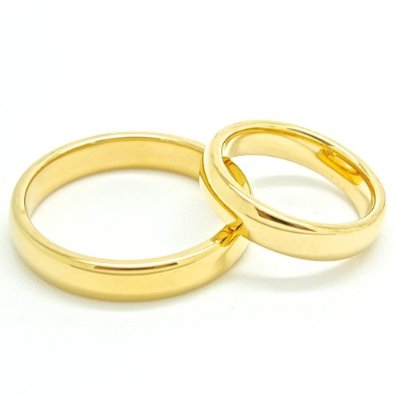 His & Hers Matching Set 4mm Wedding Band - 02BB26