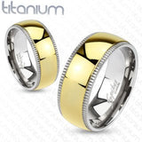 Solid Titanium Wedding Bands - 02BB25