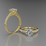 Gold Solitaire Engagement Ring - 02DS01