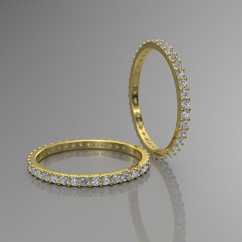 Gold Eternity Wedding Band - 02DS02