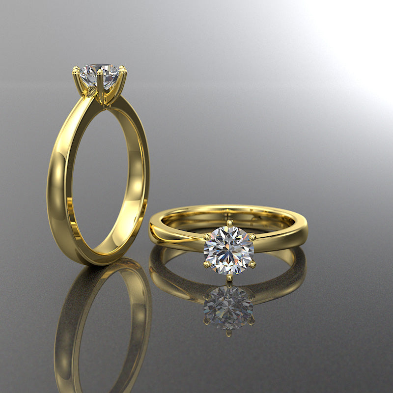 Daisy Collection - Gold Engagement Ring - 02DS14