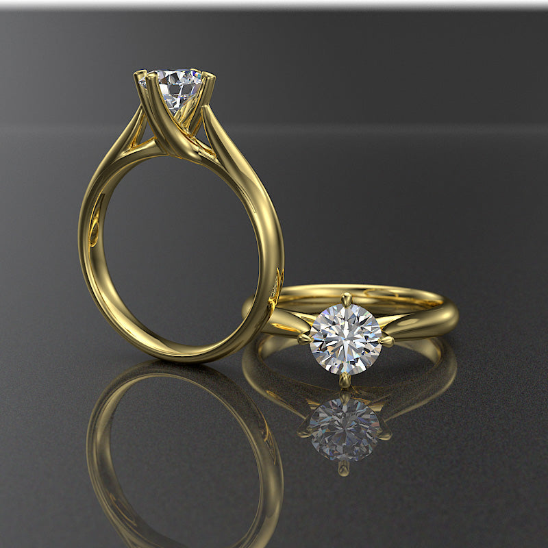 Daisy Collection - Gold Engagement Ring - 02DS15