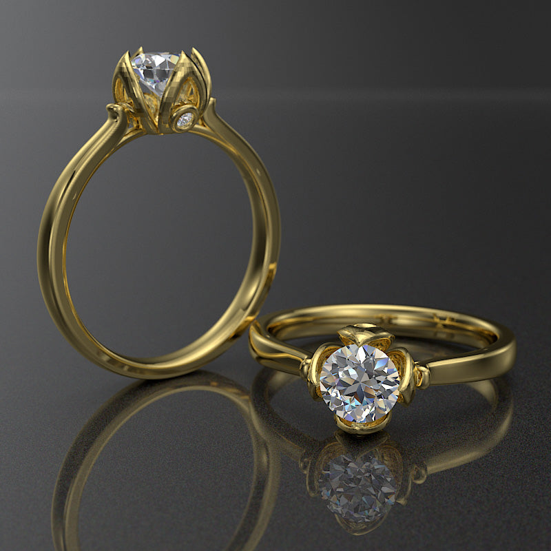 Daisy Collection - Gold Engagement Ring - 02DS17