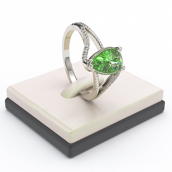 Emerald Engagement Ring - 02EM19