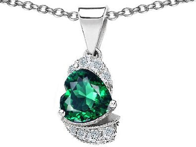 Emerald Pendant in .925 Sterling Silver - 02EM38