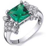 Emerald Ring in Sterling Silver  - 02EM40