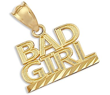 Yellow Gold Bad Girl Charm Pendant - 02NN14