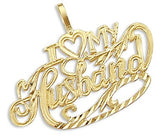 14k Yellow Gold I Love My Husband Heart Pendant - 02NN17