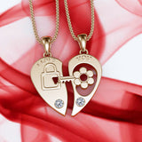 Key Lock Design Necklace - 02NN41